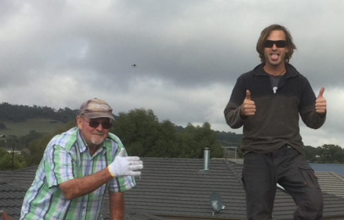Ross and Richard from Ross the Roofer